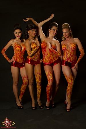 Skin City Flame Girls