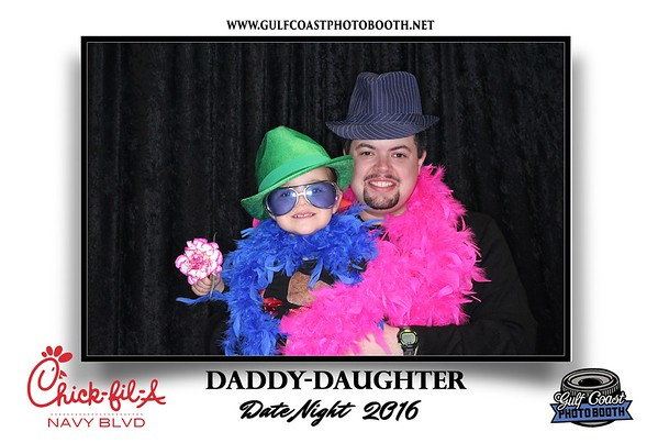 Chick-Fil-a Daddy Daughter Date Night Photo Booth Prints