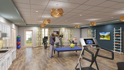 Interior Rendering - Skilled Nursing Physical Therapy