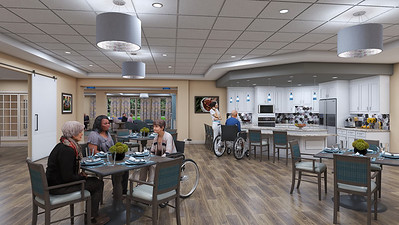 Interior Rendering - Skilled Nursing Dining Room