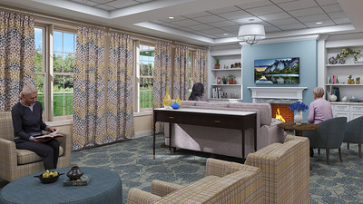 Interior Rendering - Skilled Nursing Living Room