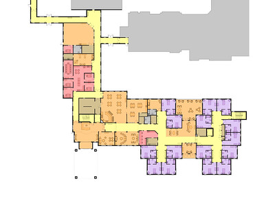Frederick Living_Skilled Nursing - Overall First Floor Plan