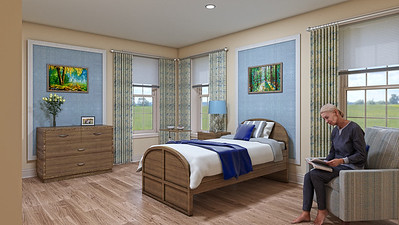 Interior Rendering - Skilled Nursing Resident Room