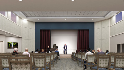 Interior Rendering - Welcome Center Auditorium