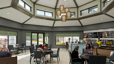 Interior Rendering - Welcome Center Cafe