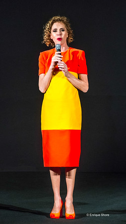 Spanish designer Agatha Ruiz de la Prada presents her Autumn-Winter 18-19 collection in New York