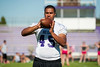 Darius McFarland, who will be a senior this fall at Box Elder High, has committed to playing football at BYU and plays tight end and defensive end for Box Elder in Brigham City on June 9, 2015.