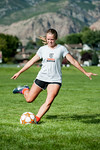 Kelsey Trudeau, a forward on the Ogden High School soccer team, poses for a photo at Mt. Ogden Park. Trudeau moved from Texas to Ogden at the beginning of the school year and is already maki ...