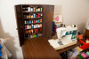 A sewing cabinet sits on a desk in Shirley Skeen's sewing room in Layton, on March 6, 2015. The cabinet was made by Skeen's father in honor of her grandmother and Shirley found it at a local thrift store after not having seen it for 70 years.