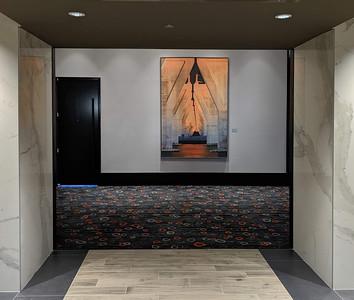 """Concrete Glow"" Main Hallway Conference Center"