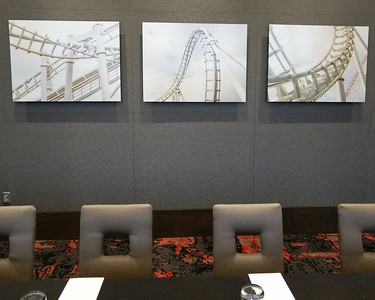 """""""Roller Coasters"""" in conference room"""