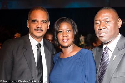 Eric Holder and Sabrina Fuller (Treyvon Martin's mother)