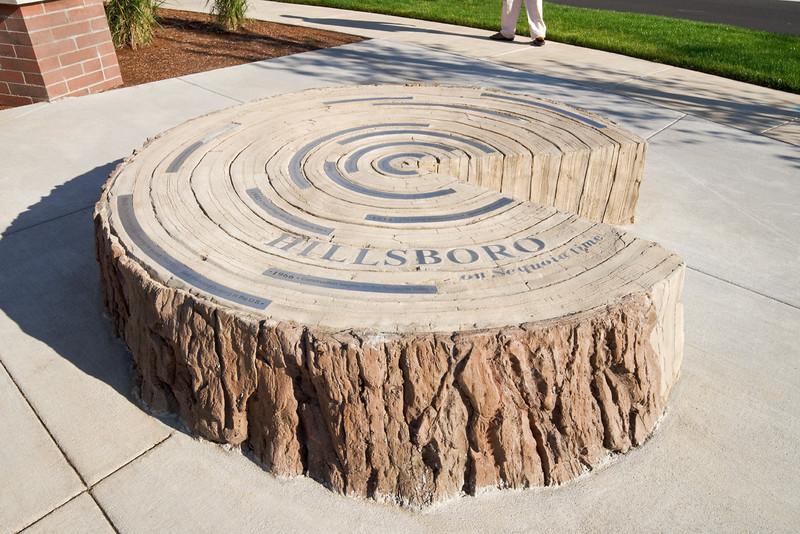 Sculpture near Walmart Neighborhood Market, Hillsboro, OR  Client:  BCRA Design, Tacoma WA