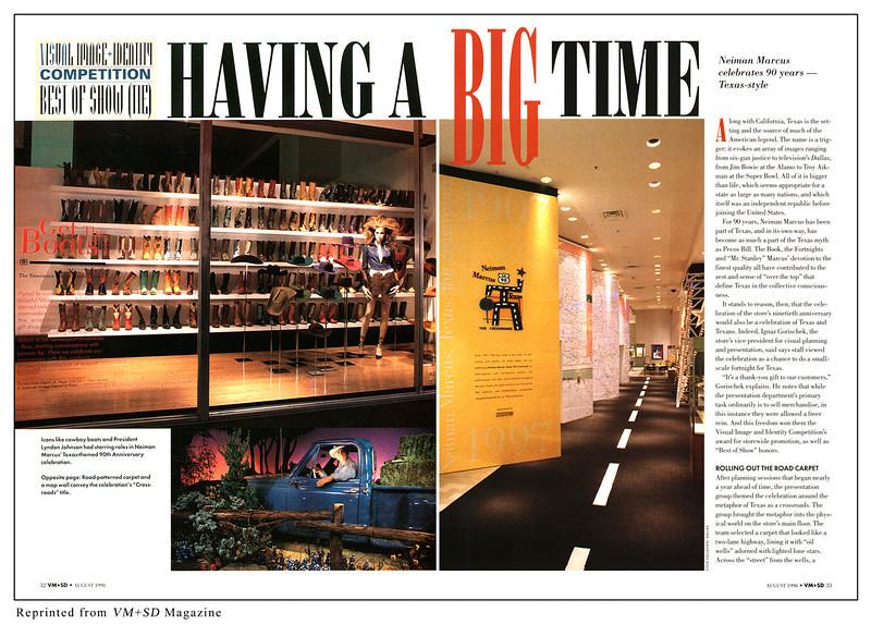 VM+SD magazine.  Neiman Marcus wins Best of Show.