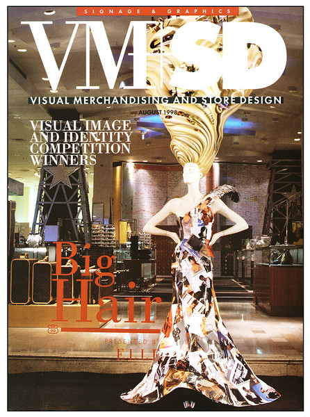 """Cover of VM+SD magazine.  Neiman Marcus wins Best of Show (5 page spread):  <a href=""""http://vmsd.com/content/visual-image-identity-competition-best-show-tie"""">http://vmsd.com/content/visual-image-identity-competition-best-show-tie</a>"""
