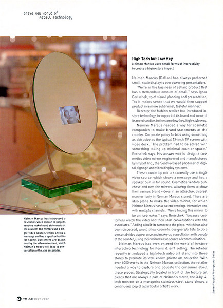 From VM+SD magazine.  Article about Neiman Marcus.