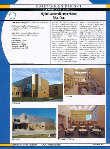 """From American School & University.  Architect: BRW, Dallas:  <a href=""""http://www.schooldesigns.com/ResultsDetail.asp?id=2581"""">http://www.schooldesigns.com/ResultsDetail.asp?id=2581</a>"""