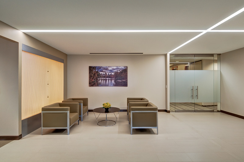 Office interior for Selux Corporation (lighting manufacturer).
