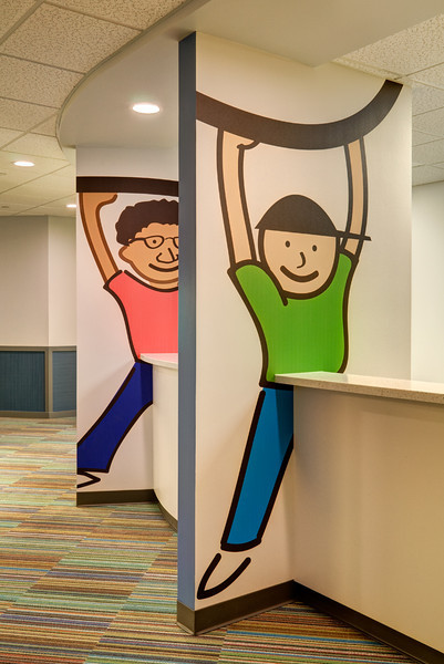 Children's Dentistry Practice in Fort Worth.  Client:  Interior Design Group, Arlington TX.
