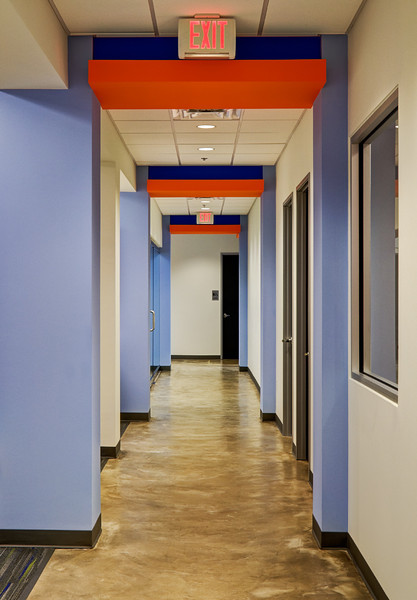 Hallway area of warehouse facility.  Client:  Interior Design Group, Arlington TX.