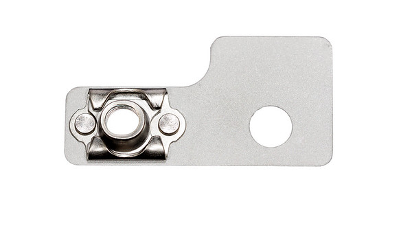 Aluminum aerospace bracket with floating PEM nun.