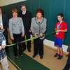 Congresswoman Nita Lowey cuts ribbon starting the use of solar panels at the Solomon Schechter school.