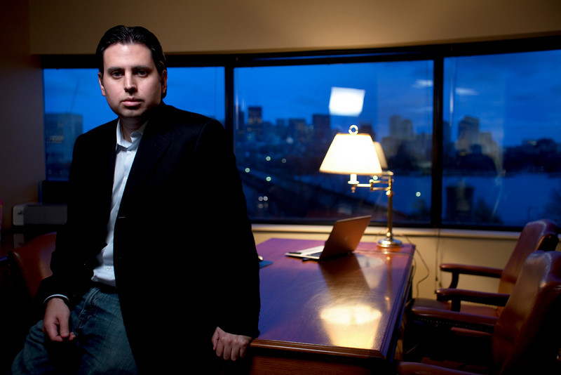 11/12/09 Cambridge, MA -- Photos from the offices of Knome a Cambridge, MA business offering complete genome sequencing and analysis.///Portrait of Knome co-founder and CEO Jorge Conde.  Erik Jacobs for Polaris