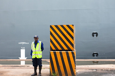 Discharging vehicles from a Hoegh vessel to the Coastal-SDV Car Terminal at Apapa, Lagos, Nigeria.