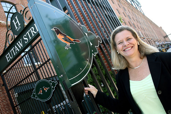 Alison Asti, the executive director of the Maryland Stadium Authority, poses outside of the Camden Yards warehouse on Wednesday, May 23, 2007. Chris Ammann/Examiner