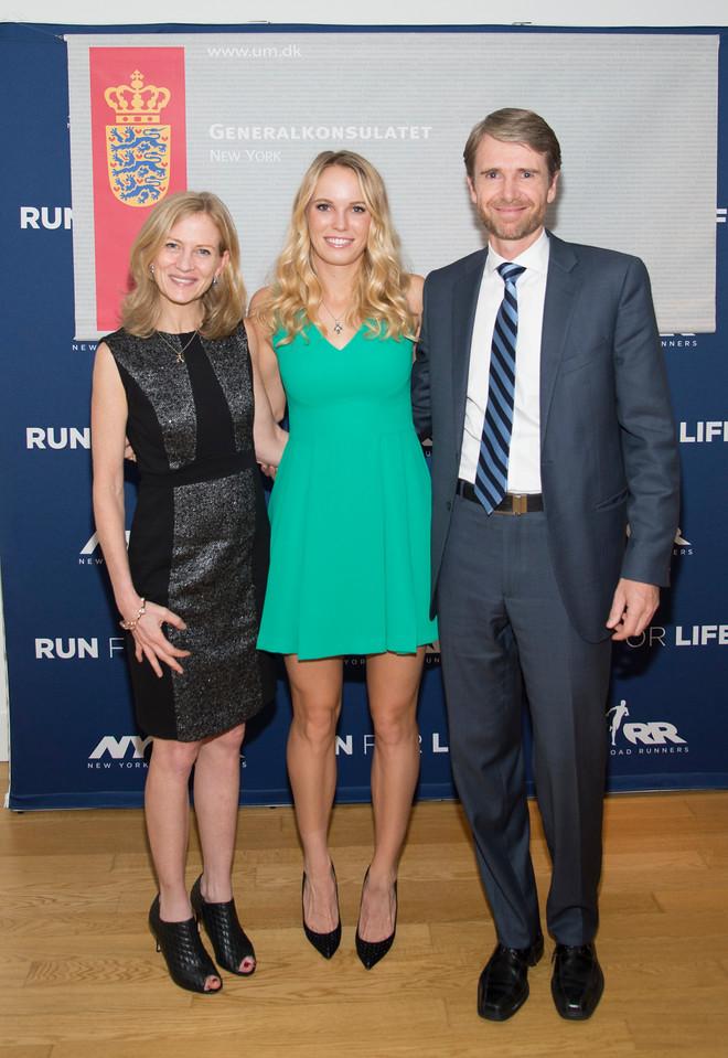 Danish Ambassador Hosts Tennis Star Caroline Wozniacki - New York City
