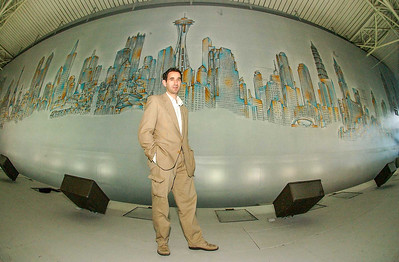NY Artist, Matteo Pericoli,  creator of the new JFK American Airlines Terminal Mural.