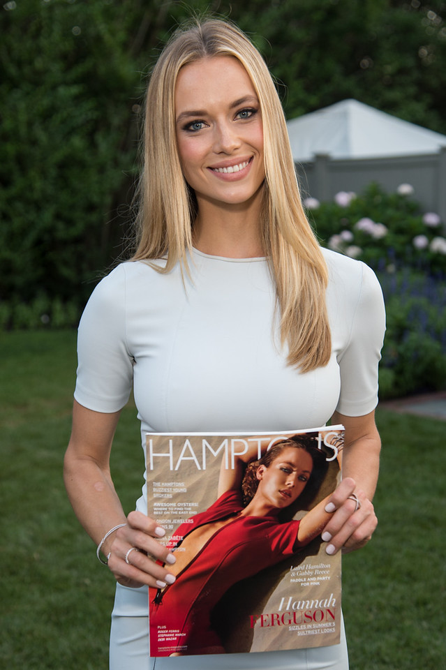 Hamptons Magazine with Model Hannah Ferguson - Southampton Social Club NY