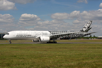 Airbus A350-941 F-WWCF (msn 002) (Carbon Fiber livery) FAB (SPA). Image: 933666.