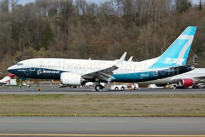 Boeing 737-7 MAX 7 N7201S (msn 42561) BFI (Joe G. Walker). Image: 941582.