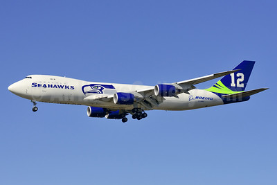 Boeing 747-87UF N770BA (msn 37564) (Seattle Seahawks - 12th Man) PAE (Steve Bailey). Image: 924691.