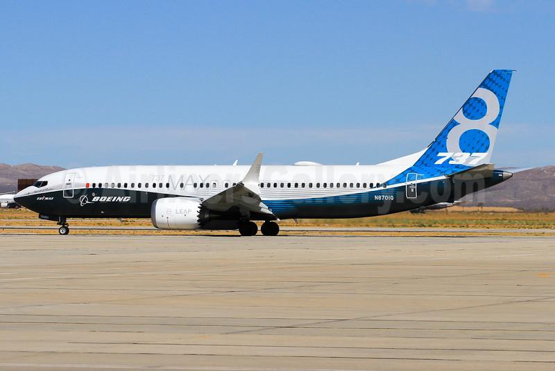 Boeing 737-8 MAX 8 SSWL N8701Q (msn 42554) VCV (Derin Allard). Image: