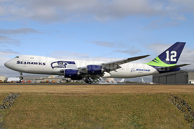 Boeing 747-87UF N770BA (msn 37564) (Seattle Seahawks - 12th Man) PAE (Nick Dean). Image: 922078.