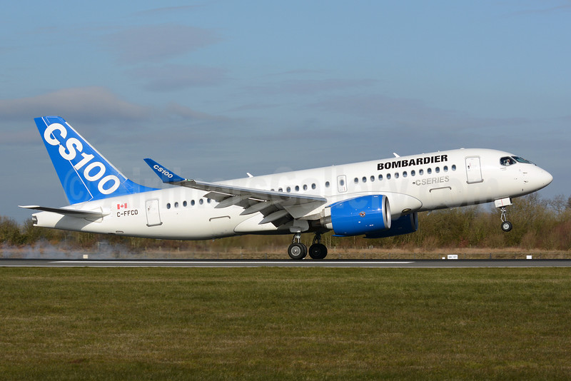 Bombardier CSeries CS100 (BD-500-1A10) C-FFCO (msn 50006) MAN (Nik French). Image: 932102.