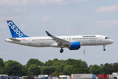 The first Bombardier CS300 at the Paris Air Show