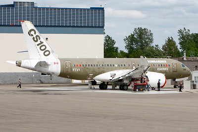 "Bombardier CSeries CS100 (BD-500-1A10) ""FTV1"" (C-FBCS) (msn 50001) YMX (Gilbert Hechema). Image: 912368."