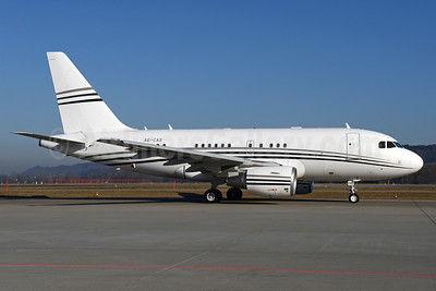 Constellation Aviation Services Airbus A318-112 (ACJ) A6-CAS (msn 4211) ZRH (Rolf Wallner). Image: 937001.