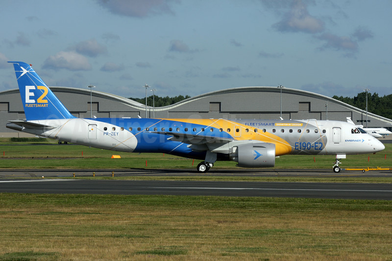 The new Embraer E190-E2 at Farnborough