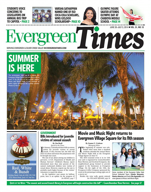 Evergreen Times - June 20 - July 3, 2014