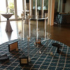 Handsome Lucite stands from JMC offered uninterrupted views of Charleston Harbor.