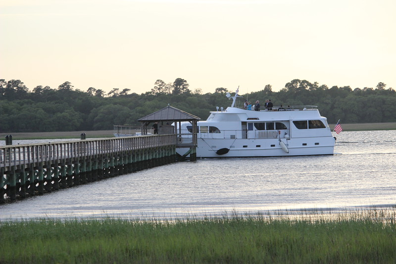 Yachting to the Plantation for a Spring Supper