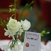 Our edible centerpieces included gourmet chocolates in the center of the table.  Only one for each person?  Wait!