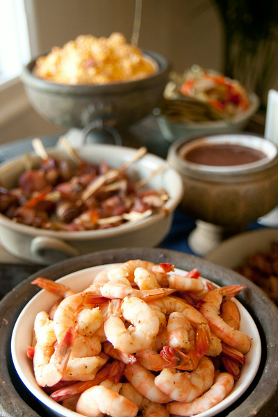 Local shrimp were SO delicious.  We know people with shrimp boats!