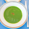 Our wonderful and flavourful English Green Pea Soup with Lobster Roe and Tumeric Oil.