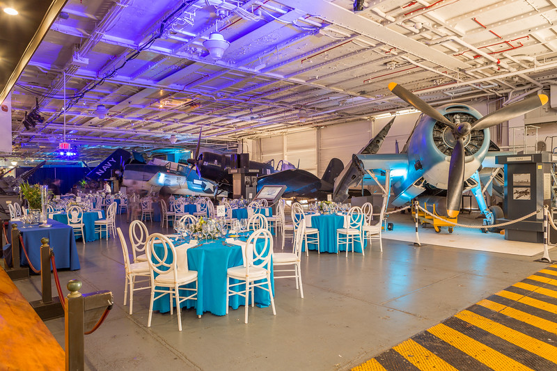 A Spectacular Supper on the USS Yorktown  for a Corporate Group of 130 Guests