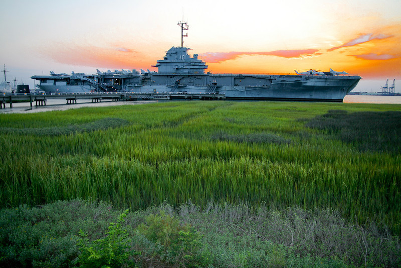Another amazing sunset from the USS Yorktown